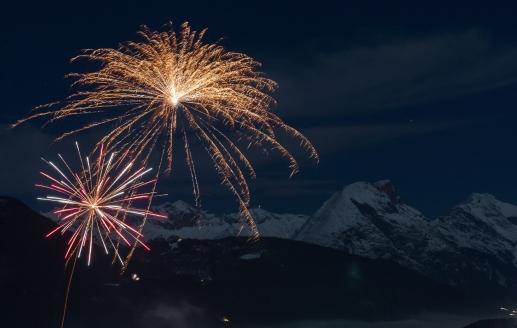 Best Western Panoramahotel Talhof in Wängle bei Reutte in Tirol, Feuerwerk