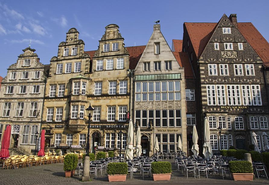 Dorint City-Hotel Bremen, Häuseransicht Marktplatz Bremen