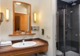 Beispiel für ein Badezimmer im Doppelzimmer Standard.