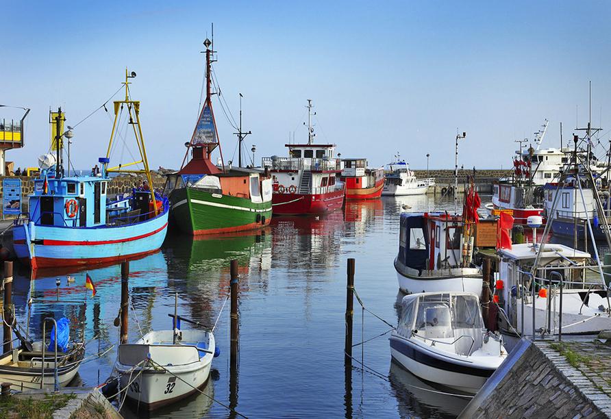 Boote im Hafen von Sassnitz.