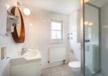 Beispiel für ein Badezimmer im 2-Raum-Appartement.