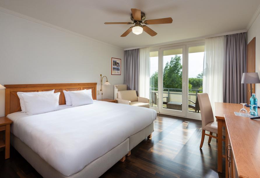 Beispiel für ein Schlafzimmer im Doppelzimmer Standard.