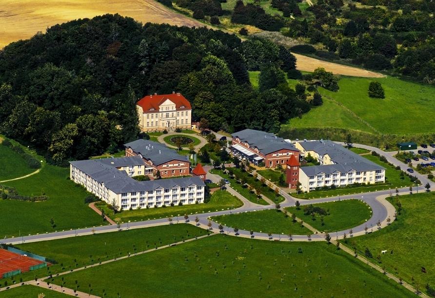 Luftaufnahme vom Precise Resort Rügen.