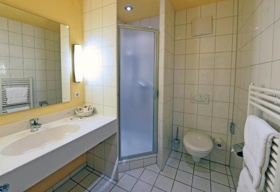 Beispiel eines Badezimmers im Hotel Sonne Eintracht