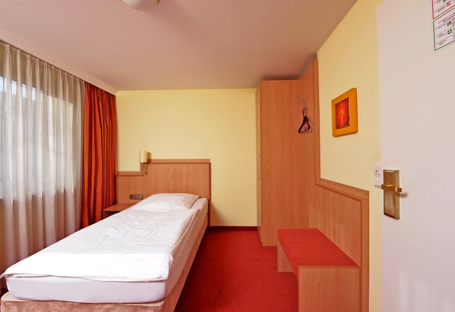 Beispiel eines EInzelzimmers im Hotel Sonne Eintracht