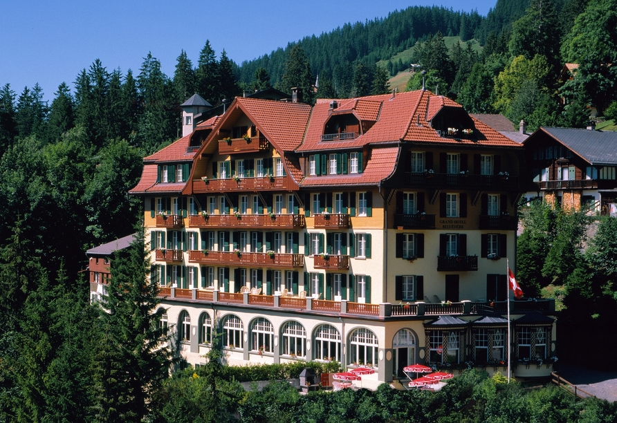 Hotel Belvédère, Wengen, Schweiz, Außenansicht
