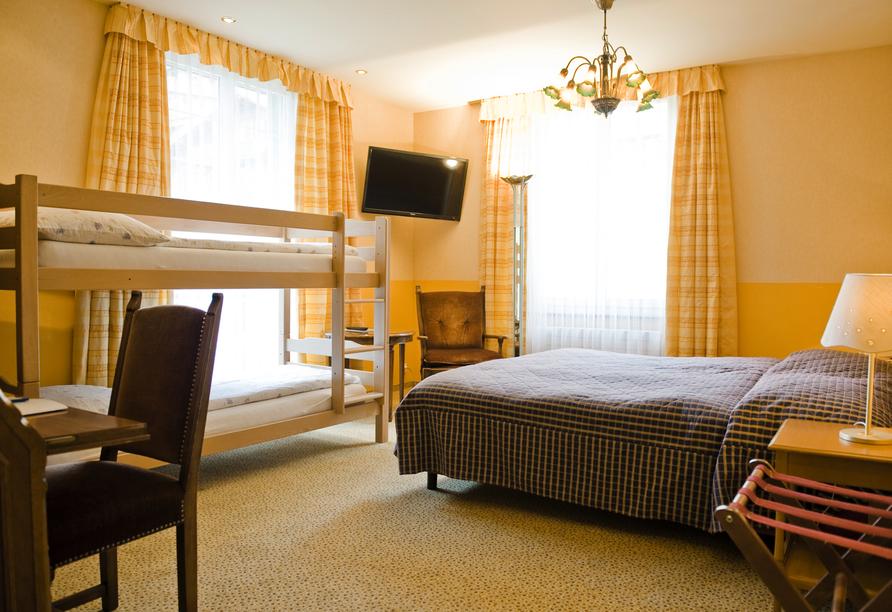 Hotel Belvédère, Wengen, Schweiz, Beispiel Familienzimmer