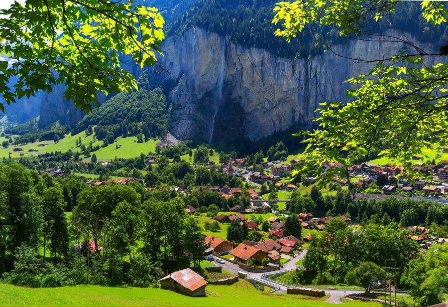 Hotel Belvédère, Wengen, Schweiz, Luftaufnahme Wengen