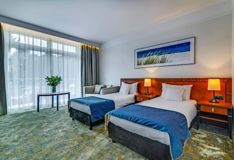 Hotel Grand Lubicz, Stolpmünde, Polnische Ostsee, Zimmerbeispiel