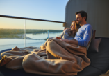 Mein Schiff , Paar bei Sonnenuntergang