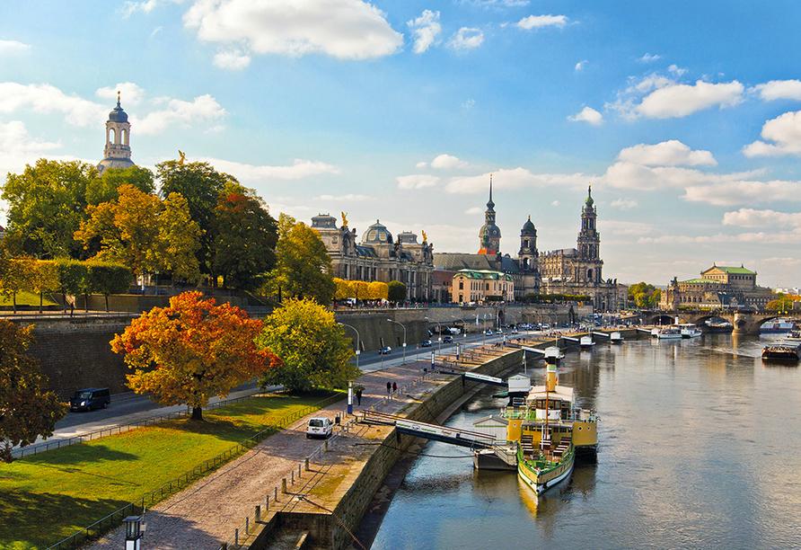 Autorundreise Ostdeutschland, Stadtansicht Dresden