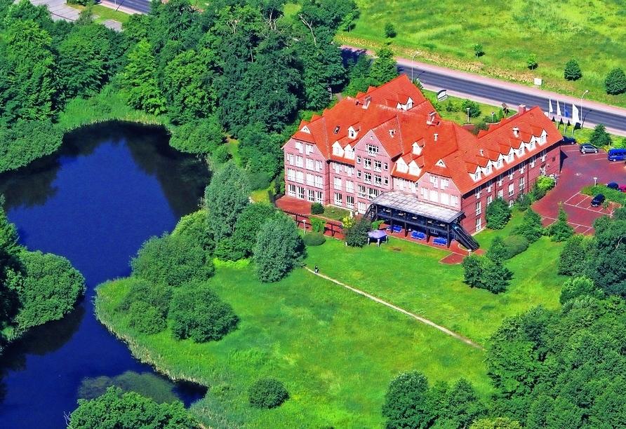 Autorundreise Ostdeutschland, Außenansicht The Royal Inn Park Hotel Fasanerie