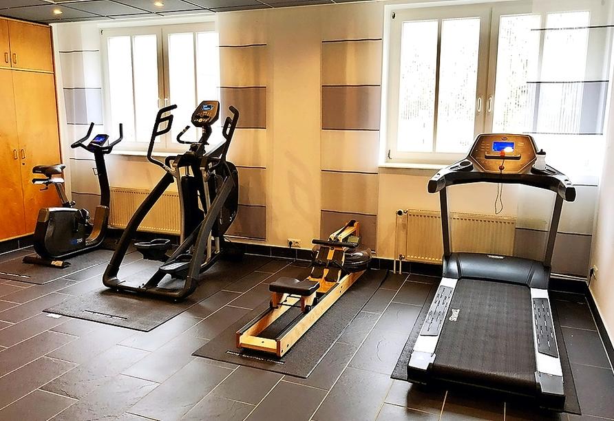 Autorundreise Ostdeutschland, Fitnessraum Park Hotel Fasanerie Neustrelitz