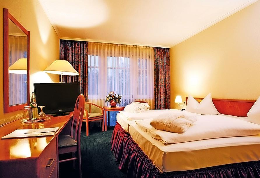 Autorundreise Ostdeutschland, Zimmerbeispiel Park Hotel Fasanerie Neustrelitz