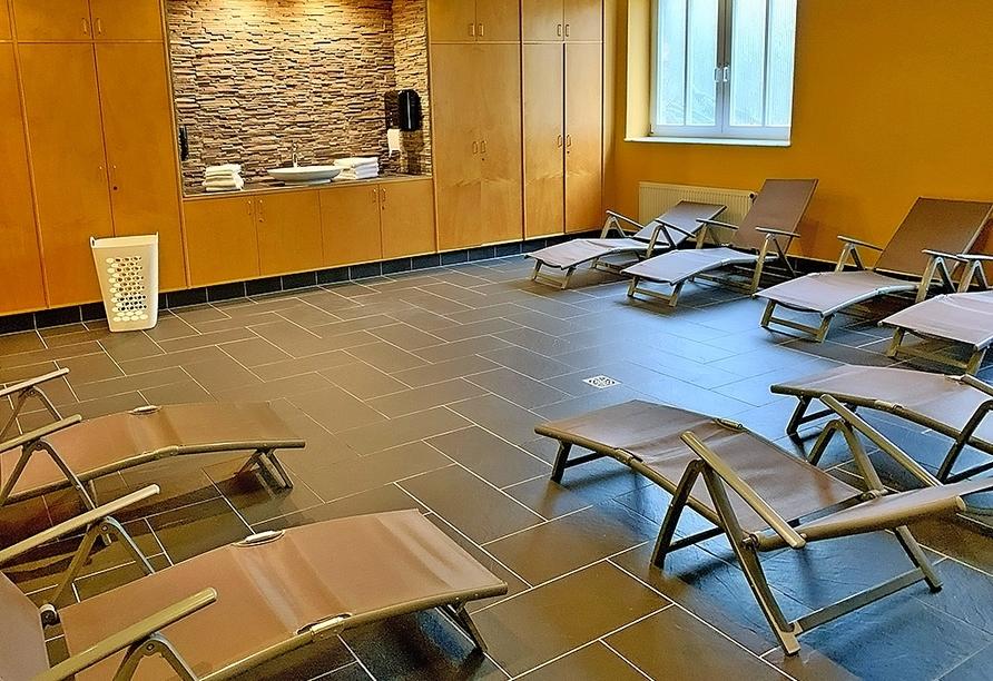 Autorundreise Ostdeutschland, Sauna Park Hotel Fasanerie Neustrelitz