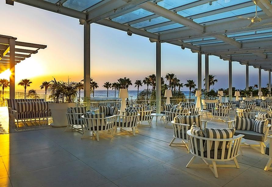 Genießen Sie schöne Stunden auf der gemütlichen Terrasse.