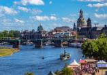 Hotel Reichskrone in Heidenau, Blick auf das Elbufer von Dresden