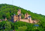 Die Burg Wertheim thront über der Stadt.