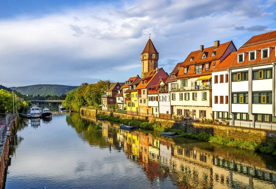 In Wertheim mündet die Tauber in den Main.