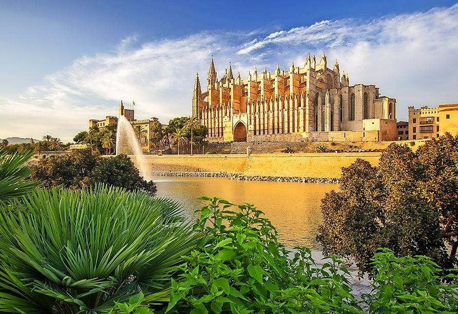 Die Kathedrale La Seu in Palma ist nicht nur bei Tageslicht einen Besuch wert – am Abend erstrahlt sie in besonderem Licht.