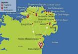 Rundreise Nordirland, Reisezielkarte