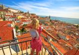 Beeindruckender Ausblick über Lissabon