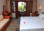 Beispiel für ein Doppelzimmer im Beispielhotel Kalamitsi.