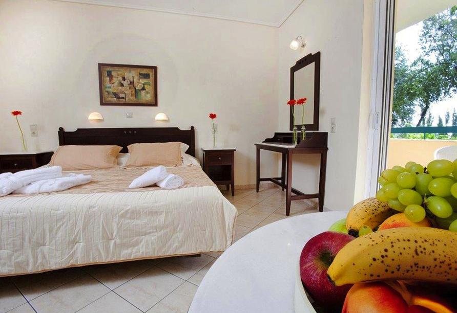 Beispiel für ein Doppelzimmer im Beispielhotel Akti Taygethos.