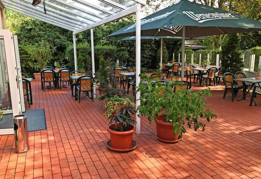 AMBER HOTEL Chemnitz Park, Biergarten-Terrasse