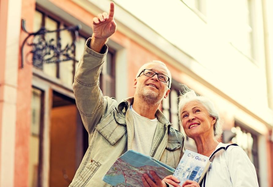 AMBER HOTEL Chemnitz Park, Paar beim Sightseeing
