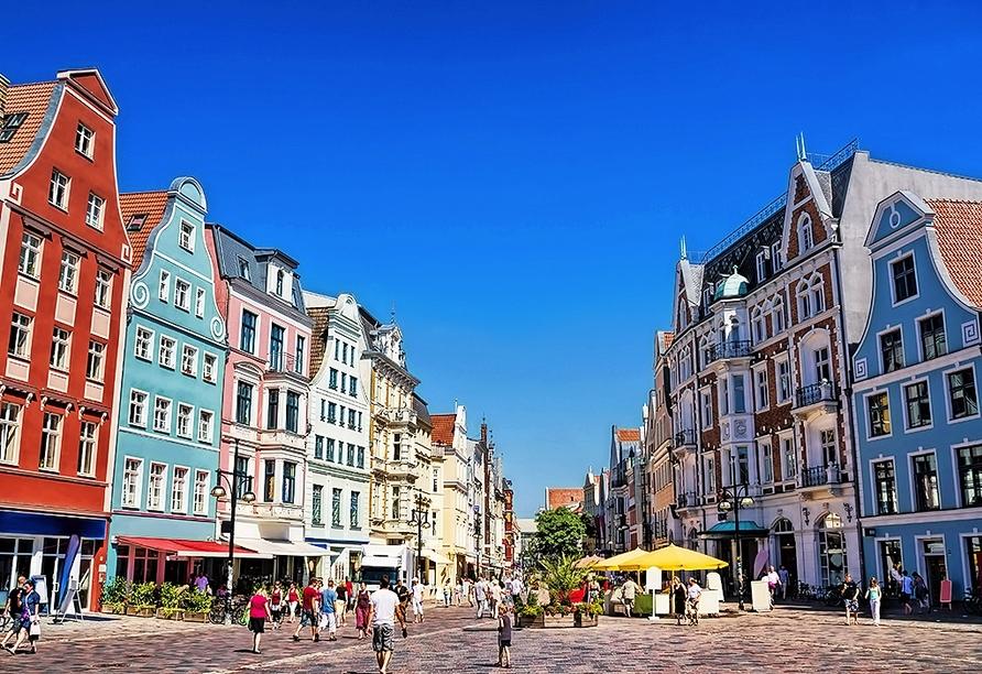 Spazieren Sie durch die Rostocker Altstadt.