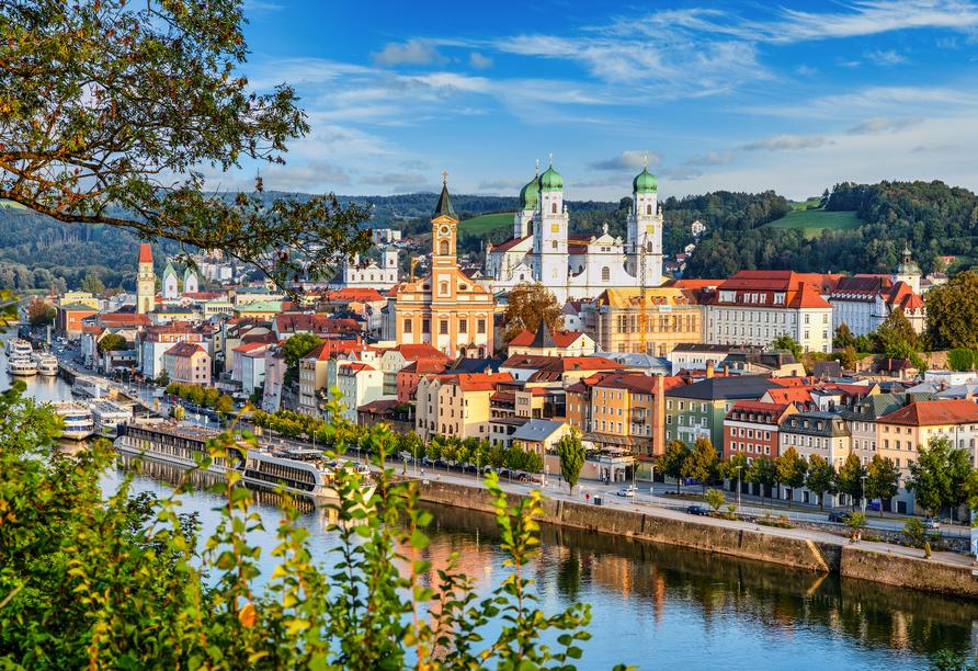 Ein Ausflug in die Drei-Flüsse-Stadt Passau lohnt sich.
