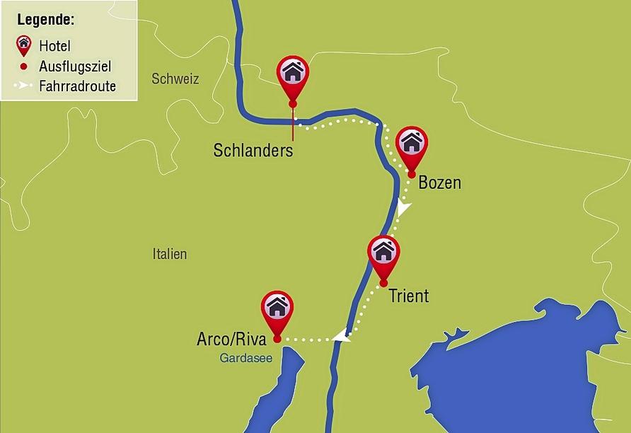 Etsch-Radweg, Route