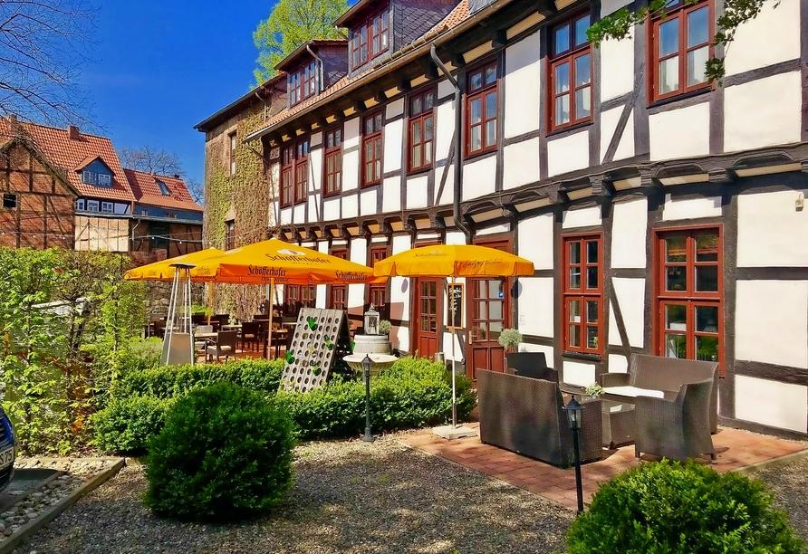 Hotel Halberstädter Hof, Biergarten