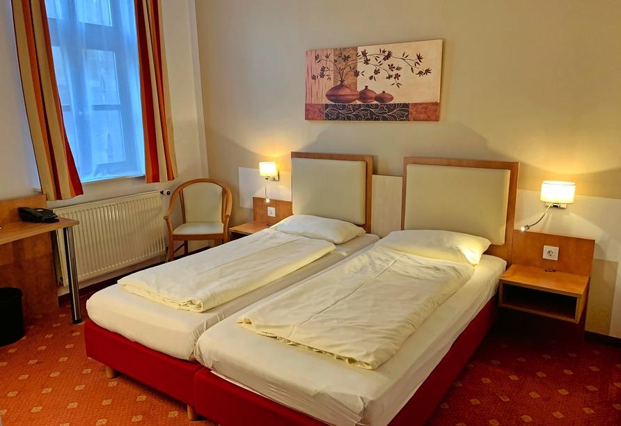Hotel Halberstädter Hof, Beispiel Doppelzimmer Standard