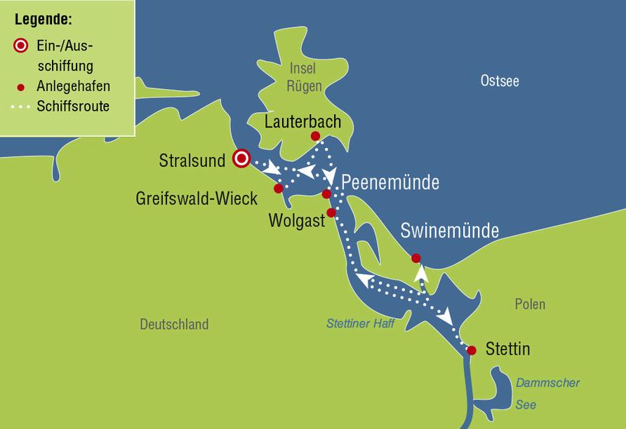 MS Swiss Diamond, Reiseroute