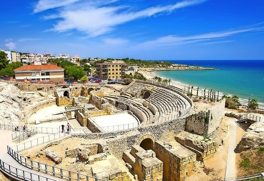 Die Ruine des Amphitheaters in Tarragona gehört zum UNESCO-Weltkulturerbe.
