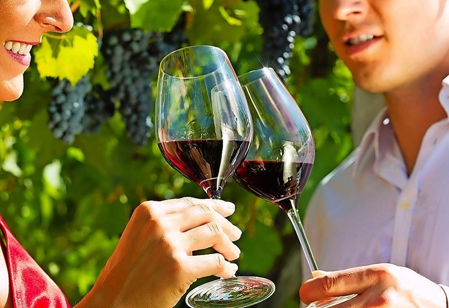 Probieren Sie den schmackhaften Wein aus der Weinbauregion Priorat in der Nähe von Tarragona.
