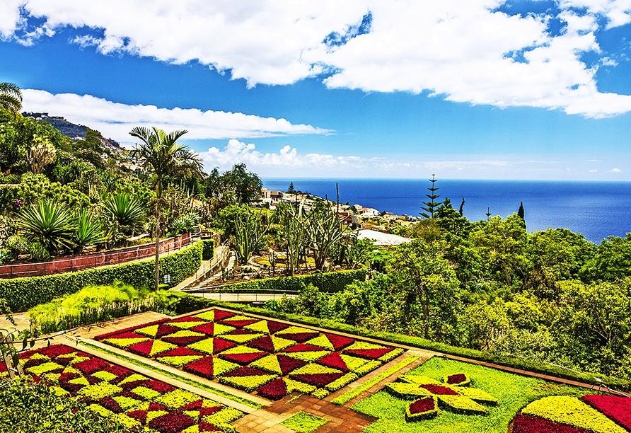 Bei einem Ausflug in die Hauptstadt Madeiras, Funchal, sollten Sie den Botanischen Garten besuchen.