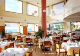 Leckere Speisen erwarten Sie im Restaurant des Hotels.