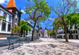 Unternehmen Sie mit Ihrem Mietwagen unbedingt einen Ausflug zur Inselhauptstadt Funchal.