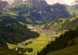 Hotel Crystal Engelberg - Blick auf Engelberg