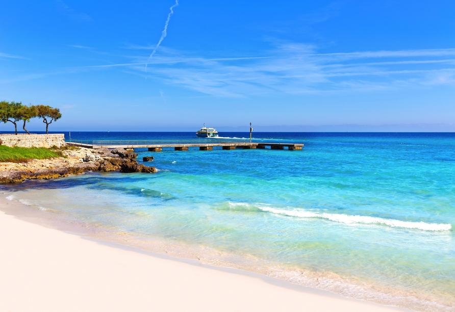 Hotel La Santa Maria Playa, Strand Cala Millor