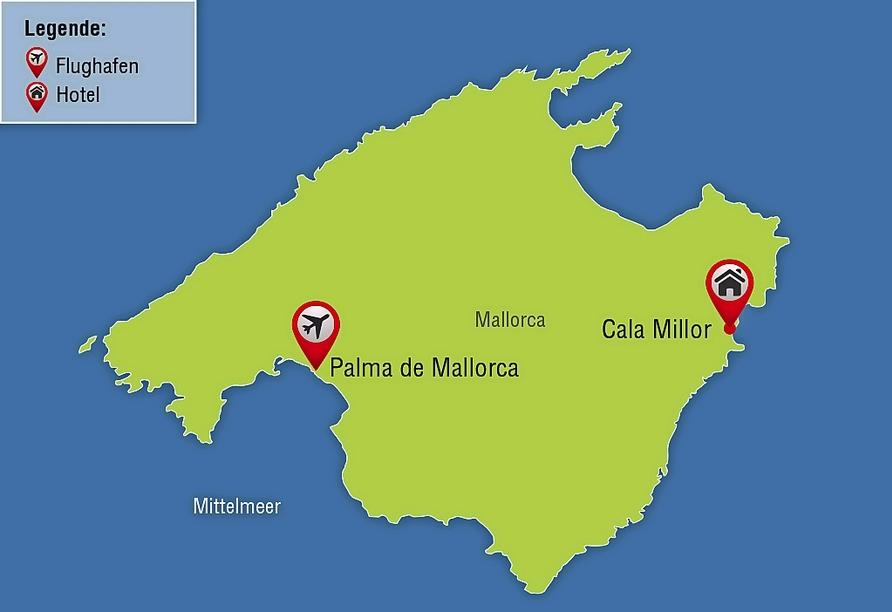 Hotel La Santa Maria Playa, Reisezielkarte