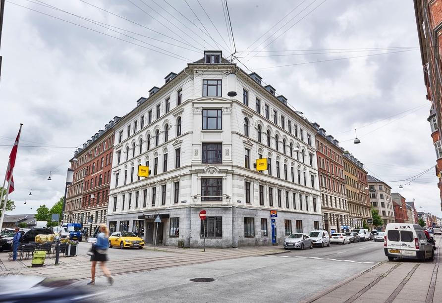 Kurzreise Dänemark, Außenansicht Hotel