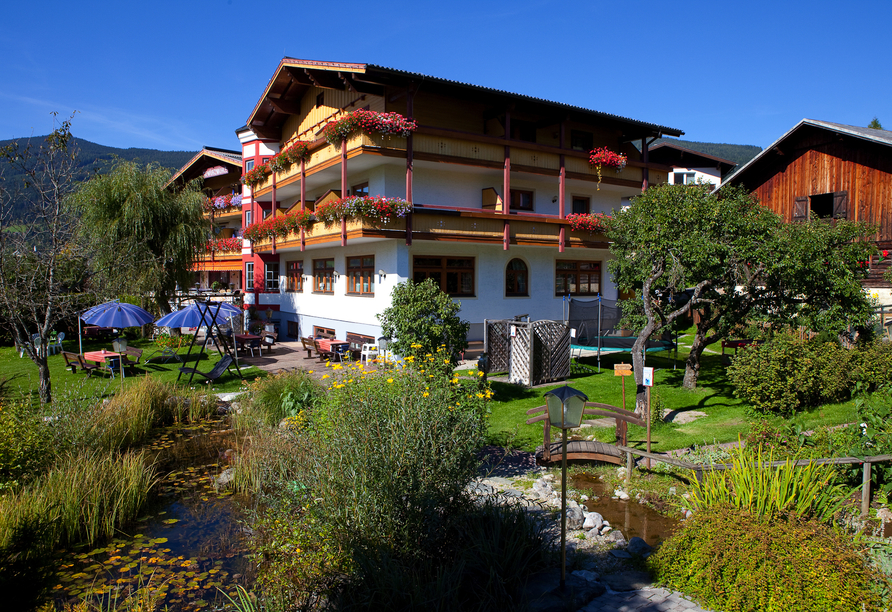 Ferienhotel Gewürzmühle in Radstadt, Gartenanlage