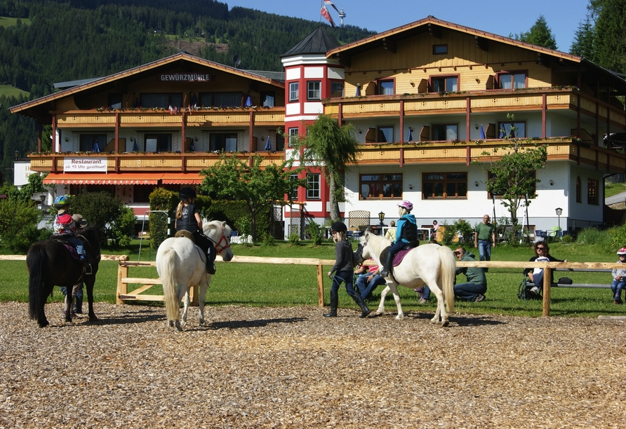 Ferienhotel Gewürzmühle in Radstadt, Ponyreiten
