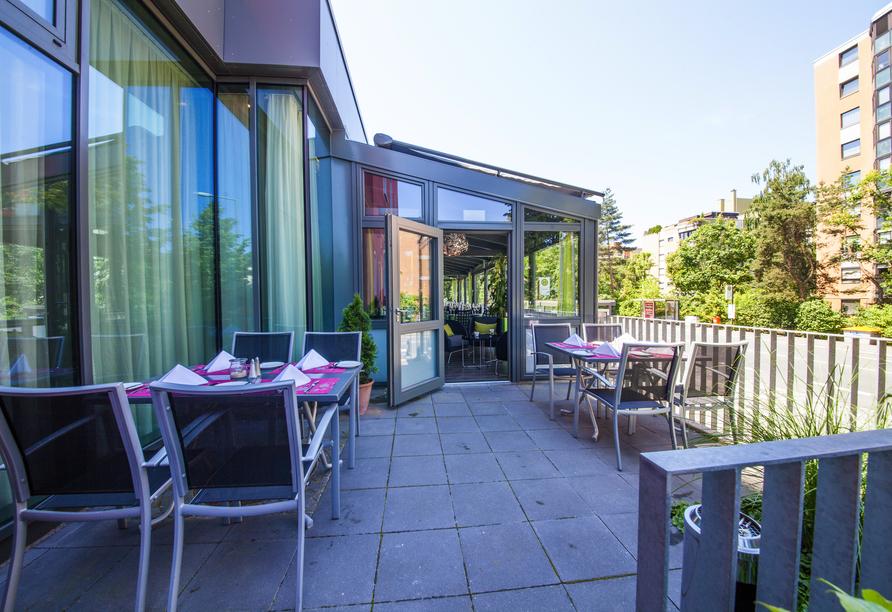 An das Restaurant ist auch eine Terrasse angeschlossen.