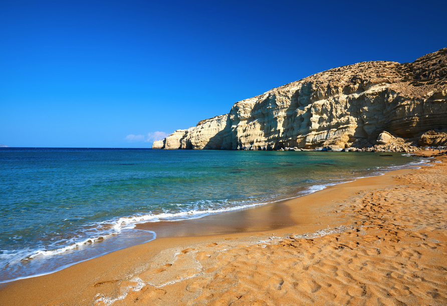 Mietwagen-Rundreise Kreta, Matala, Roter Strand