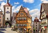 Auch die mittelalterliche Stadt Rothenburg ob der Tauber ist einen Besuch wert.